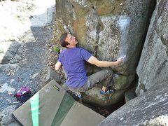 Rock Climbing Photo: Moving from this right hand to the higher right ar...
