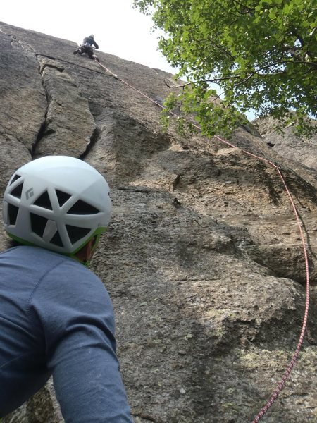 Very close to Gothenburg one can find fine trad climbing.
