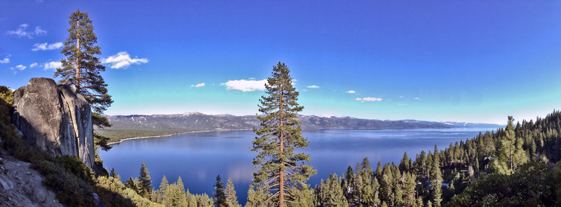 The view is okay, I mean if you're one of those wack-jobs that like panoramic views of Tahoe...