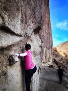 Rock Climbing Photo: A little bouldering at Smith Rock in OR