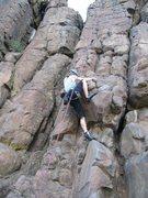 Climbing at Broughton Bluff