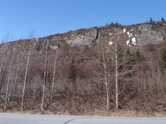 Rock Climbing Photo: 19 Mile Wall as viewed form the highway