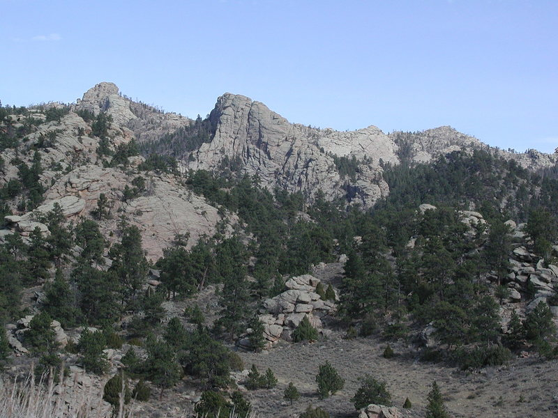 Pine Mtn complex as seen from ridge on south side of Upper Duck Creek