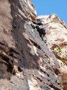 Rock Climbing Photo: Heather Selitrennikoff P1 of Y2K, Red Rocks, AZ