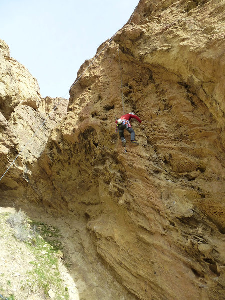 Rock Climbing Photo: Beginning of the route...
