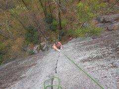 Rock Climbing Photo: Final stretch on Safari Jive