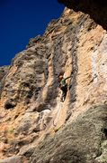 Rock Climbing Photo: Getting into the meat of the route. February 2014....
