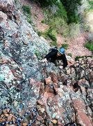 Rock Climbing Photo: Ben treading lightly on the final few feet of &quo...