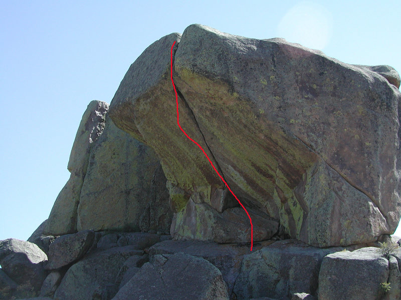 Rock Climbing Photo: The obvious line of What the Big Boy Eat.