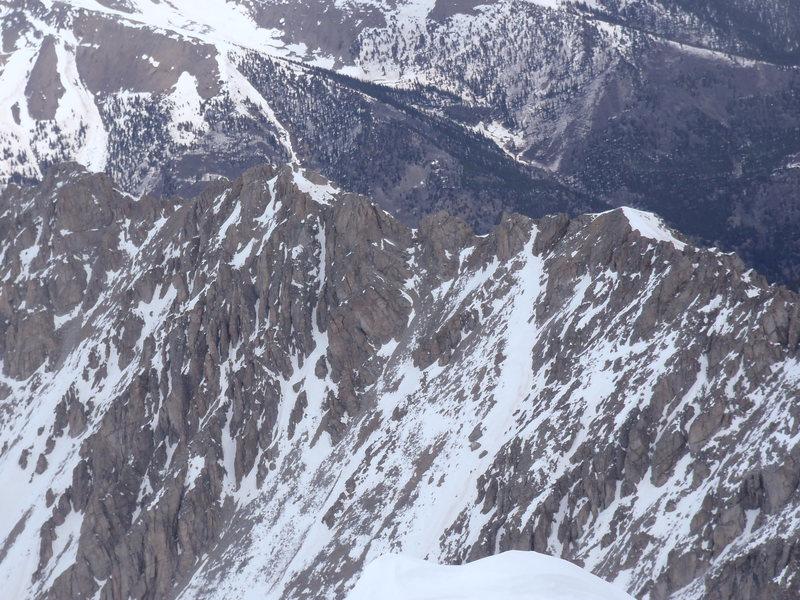 Ellingwood Ridge from the summit.