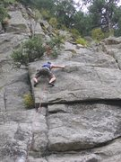 Rock Climbing Photo: Bob D. on FA of what I thought we called Road Kill...