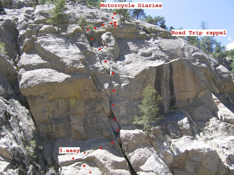 Rock Climbing Photo: Original topo dated 5/21/2006. No bolts on this ro...