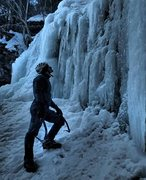 Rock Climbing Photo: Ice Climbing at Devil's Kitchen