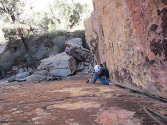 Rock Climbing Photo: Chris Chicoskie follows the clean corner, well, cl...
