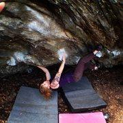 "Rock Climbing Photo: Me on ""Monkey Paw"" on the Mushroom Bould..."