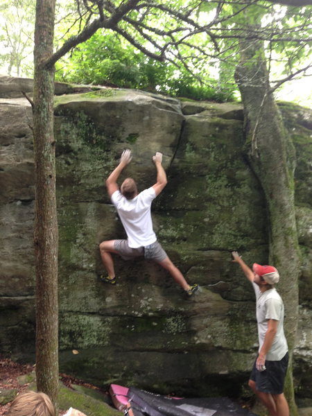 Rock Climbing Photo: Fun little ditty we found at Grandmother, NC..no i...