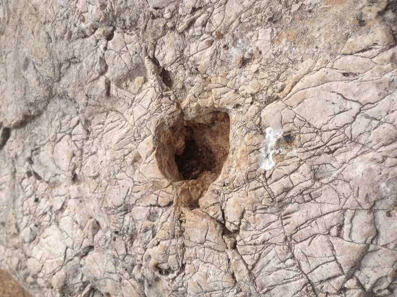 Rock Climbing Photo: Grand Canyon Limestone Pocket!!!