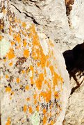 Rock Climbing Photo: Microbial limestone Orange!