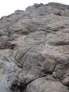 Rock Climbing Photo: We only got to the 3rd bolt on lead. The crux come...