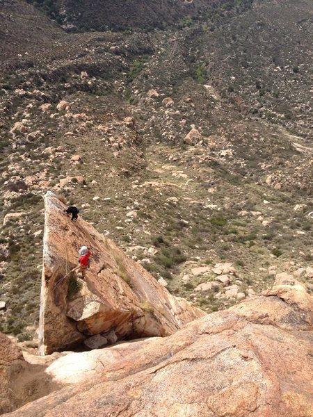 Top of Meteor. In the red I believe is Josh Higgins and his climbing partner Tenten(?).