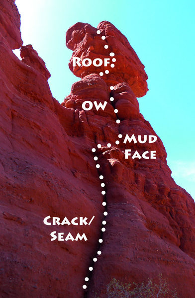 Rock Climbing Photo: Route Noah & I climbed on 4/17/2014. Sort of match...