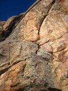 Rock Climbing Photo: Solarium Wall, rope is hanging on Chipmunk Route.