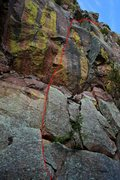 Rock Climbing Photo: Route line.