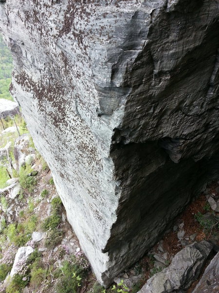 Rock Climbing Photo: Just a route/beta photo.  Would be a cool angle if...