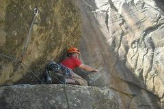 Rock Climbing Photo: Making the crawl.