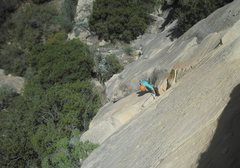Rock Climbing Photo: Down on P2