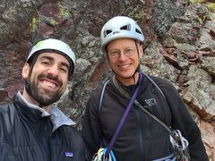 Rock Climbing Photo: Me and Joe on the walk-off descent after Over the ...
