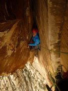 Rock Climbing Photo: Psyched for flares on P8 of Texas Hold'em