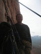 Rock Climbing Photo: Third pitch belay