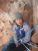 Rock Climbing Photo: Third pitch  belay with Christine