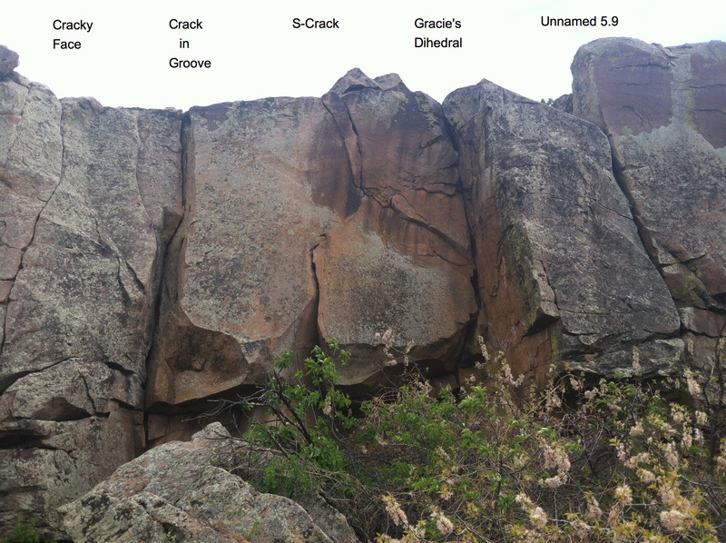 Rock Climbing Photo: Lower Torture Chamber routes.