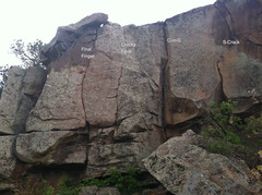 Rock Climbing Photo: Torture Chamber lower routes II.