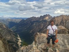 Rock Climbing Photo: Josh at the summit