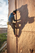 Rock Climbing Photo: Supercrack of the desert. Such a beautiful climb. ...