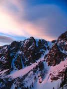 Rock Climbing Photo: Sunrise alpenglow near Hallett.