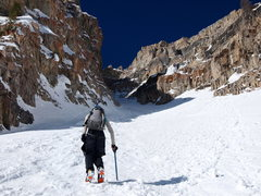 Rock Climbing Photo: Entering the couloir via the (climber's) right for...