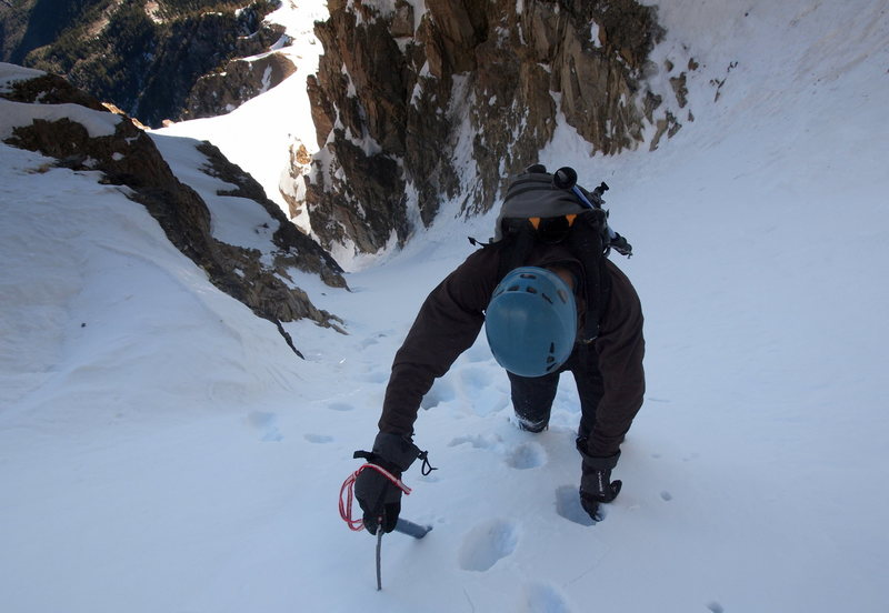 Rock Climbing Photo: Looking down the couloir.