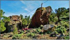 Rock Climbing Photo: Cursive problem beta.