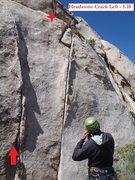 Rock Climbing Photo: Headstone Crack Left (May 2011)