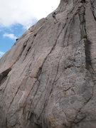 Rock Climbing Photo: rap pitch 1 of Cloud Nine