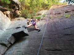 Rock Climbing Photo: Crack Hanger - Big, gorgeous off width crack start...