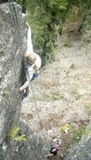 Rock Climbing Photo: Reaching for those great holds along the arete