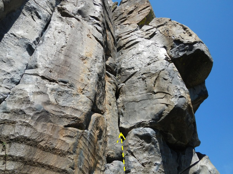 Rock Climbing Photo: Made of Silk is the route going up the left facing...