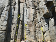 Rock Climbing Photo: This is the leftmost route in the picture.  The ne...