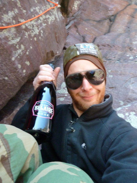 Rock Climbing Photo: Black Bottle Climber