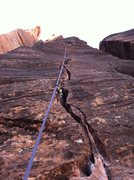 Rock Climbing Photo: 5.10 2nd pitch fingers variation. excellent!